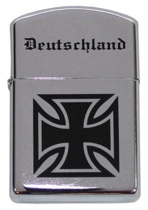 Feuerzeug Benzinfeuerzeug Deutschland Eisernes Kreuz Chrom Poliert