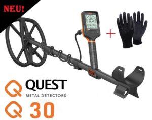 Quest Q30 Metalldetektor Metallsonde Metallsuchgerät wasserdicht 5 Meter
