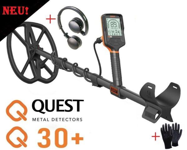 Quest Q30+ Metalldetektor Metallsuchgerät Metallsonde wasserdicht 5 Meter NEU!
