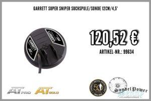 "Garrett Super Sniper Suchspule/Sonde 12cm/4,5"""