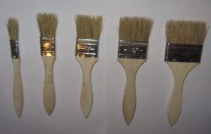 Premium Pinselset 5 tlg. Borsten-pinsel Flach-pinsel Borsten 15 - 60mm