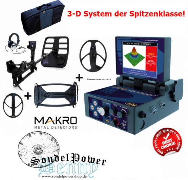Makro Deephunter Pro Package 3D Golddetektor Bodenscanner