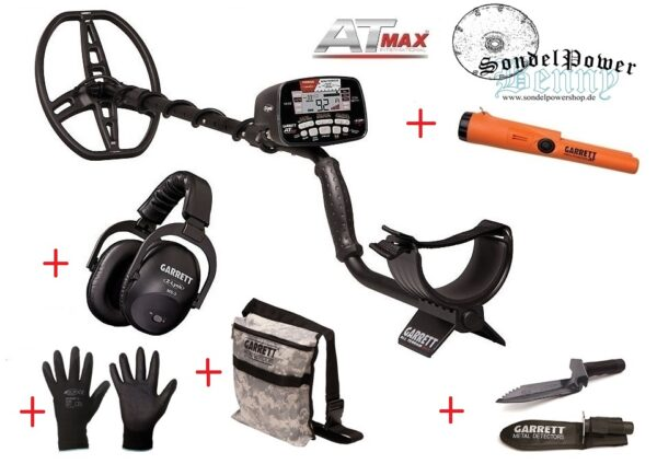 Garrett AT MAX International Metalldetektor Pro Package Vorteilspaket Sparpaket mit viel Zubehör
