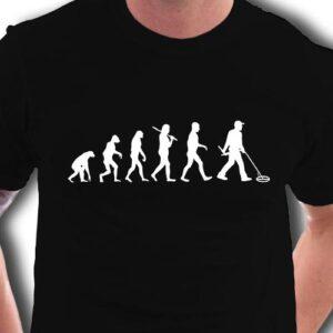 Schatzsucher,- Sondengänger T-Shirt Evolution der Archäologie